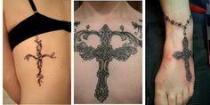 cross tattoo designs for women Cool Cross Tattoos, Tribal Cross Tattoos, Simple Cross Tattoo, Celtic Cross Tattoos, Cross Tattoo For Men, Cross Tattoo Designs, Heart Tattoo Designs, Flower Tattoo Designs, Tattoo Designs For Women