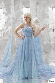 Disney Wedding Dresses, Disney Princess Dresses, Blue Wedding Dresses, Disney Dresses, Pretty Prom Dresses, Beautiful Dresses, Nice Dresses, Ball Gowns, Fashion Dresses