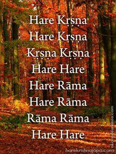 Hare Krishna Maha Mantra in Portuguese