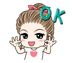 LINE Official Stickers - Drama Wife Animated Stickers Example with GIF Animation Cute Love Images, Cute Love Gif, Cute Cartoon Pictures, Cute Love Cartoons, Animated Emoticons, Animated Gif, Gif Lindos, Happy Birthday Greetings Friends, Girl Emoji