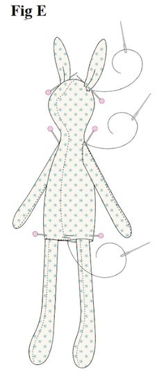Sewing Stuffed Animals, Stuffed Animal Patterns, Doll Sewing Patterns, Sewing Dolls, Doll Crafts, Diy Doll, Fabric Animals, Fabric Toys, Creation Couture