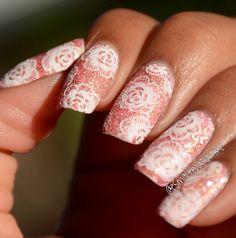 Textured polish and nail stamping