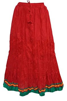 Mogul Peasant Skirts Solid Red Gypsy / Bohemian Full / Maxi / Long Cotton Skirt Mogul Interior http://www.amazon.com/dp/B016Y7NQAI/ref=cm_sw_r_pi_dp_-3okwb03G9JXD