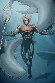 "extraordinarycomics: ""Aquaman by Nimesh Niyomal. Aquaman Dc Comics, Arte Dc Comics, Marvel E Dc, Marvel Comics, Young Justice Legacy, Atlantis, Comic Books Art, Comic Art, Fantasy Art"