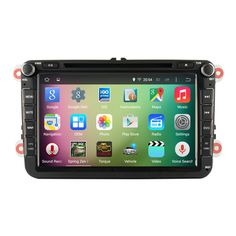 """Find More Car DVD Information about 8"""" Android 4.4.4 Quad Core Car Audio Stereo Autoradio for VW Volkswagen Polo Golf 5 6 Passat Jetta Tiguan Touran Superb WIFI DVR,High Quality autoradio gps 1 din,China autoradio double din gps bluetooth Suppliers, Cheap autoradio dvd gps ford from Canavie Technology on Aliexpress.com"""