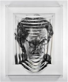 Jim Shaw, Rectangular, Spiral Sliced Self-Portrait, 2009