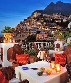 ღ  Relaxing and Brilliant colorful skyline mountain view of Positano Italy.#Italy #positano #Lunch # Breakfast #photography #trending #Vacation #Travel #Family #Romance