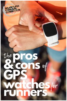 GPS watches and runners go hand in hand.  It's rare to see a runner NOT sporting one on their wrist.  But as a runner, do you really NEED a GPS watch?  And can they do more harm than good?  Let's weight the pros and cons of GPS watches. Running Watch, Running Gear, Girl Running, Running Training, Marathon Training, Training Plan, Strength Training, Half Marathon Tips, Gps Watches