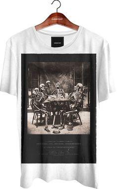Camiseta Gola Básica - Skull Party