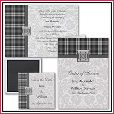 CM Design Style Blog - Weddings - These original and unusual Scottish Wedding invitations mix together two traditional wedding themes to form a bold and modern aesthetic.