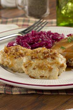 German Potato Dumplings   http://www.mrfood.com/Potatoes-Rice/German-Potato-Dumplings-MF/ml/1/?utm_source=ppl-newsletter&utm_medium=email&utm_campaign=mrfooddaily20150928