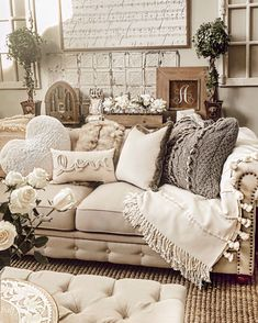 Cozy Living Rooms, New Living Room, My New Room, Home And Living, Living Room Decor, Bedroom Decor, Modern Living, Small Living, Shabby Chic Living Room