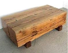 Reclaimed beam coffee table - $4200
