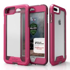 Zizo ION Full-wrap Cover iPhone 7 Plus Case - Pink/Clear