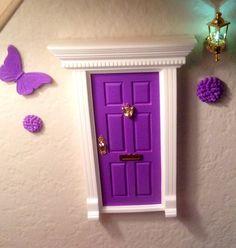 Purple fairy door by Fairy Avenue