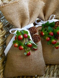 Burlap Treat Bags - 20 Fun and Easy DIY Christmas Gifts for the People you Love