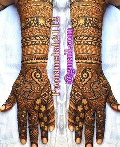 No photo description available. Indian Henna Designs, Mehndi Designs Book, Full Hand Mehndi Designs, Modern Mehndi Designs, Dulhan Mehndi Designs, Wedding Mehndi Designs, Mehndi Design Pictures, Mehndi Patterns, Beautiful Mehndi Design