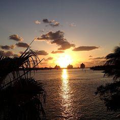 Beautiful sunset in Nassau Paradise Island, The Bahamas.