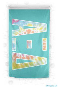Alpha Xi Delta Tie Dye Flag