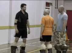 How dwarves say hello / what's up / carry on, mate. - Richard Armitage, The Hobbit boot camp (pun intended?)