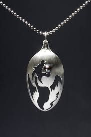 sterling silver spoon necklaces - Google Search