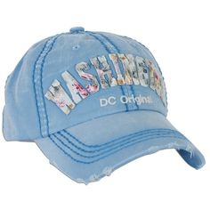 df2ac931 CPDC21-B Robin Ruth Baseball Cap Washington DC Flower City BLUE