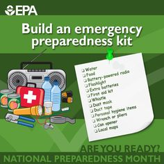 It's National Preparedness Month. Are you ready? National Preparedness Month, Emergency Preparedness Kit, Survival, Local Map, Doomsday Preppers, In Case Of Emergency, First Aid Kit, Child Safety, Safety Tips