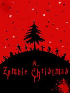 'A zombie Christmas' by stitchgrin Zombie Christmas, Dark Christmas, Merry Christmas, Winter Wonderland Christmas, Christmas Music Playlist, Zombie Life, Retro Vintage, Creepy, Zombie Birthday