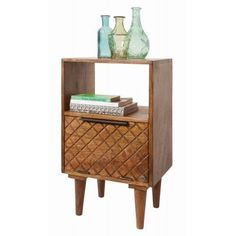 Tom Tailor Kommode T-Pattern Small Cabinet Aus Mangoholz Mit 1 Klappe Tom TailorTom Tailor Cube Side Table, Side Table With Storage, Round Side Table, 3 Drawer Bedside Table, Bedside Cabinet, Home Design, Small Cabinet, Hazelwood Home, Retro Furniture