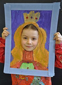 le roi et la reine Can be done after studying about Queen Elizabeth I )Can be done after studying about Queen Elizabeth I ) Projects For Kids, Diy For Kids, Art Projects, Crafts For Kids, Arte Elemental, Ecole Art, Art Club, Art Plastique, Elementary Art