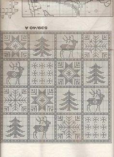 Album Archive - crochet - Natal - Christmas - Punto de red Nº 41 - 2001 Filet Crochet, Crochet Doily Rug, Crochet Curtains, Crochet Chart, Crochet Stitches, Blanket Crochet, Cross Stitch Numbers, Cross Stitch Charts, Cross Stitch Designs