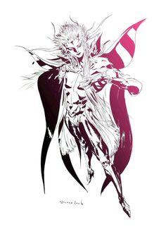 Yoshitaka Amano - The Emperor - Final Fantasy II