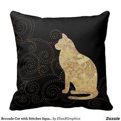 #pillow #lumbar #cat #brocade