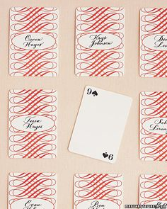 Escort Card Idea