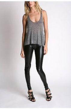 liquid/pleather/rubber LEGGINGS. -- whatever you call them - i want. not sure i could pull off. but i want.