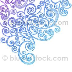Hand-Drawn Sketchy Notebook Doodle Swirls Vector Illustration | blue67design via Flickr