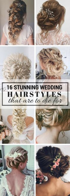 Wedding Hairstyles For Long Hair That Are To Die For - Literally the BEST and prettiest hairstyles for long hair. Includes half up half done, braids, curls, up dos and more! So IN LOVE with this!!