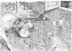 Ilustração de um conto de Miguel Torga, para efeitos de portefólio.