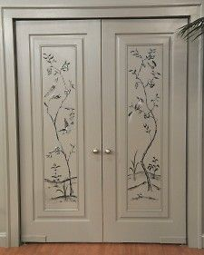 Enjoy the beauty of nature indoors with a simple painting technique that will bring flowering branches, birds, and butterflies to life on door panels and walls.