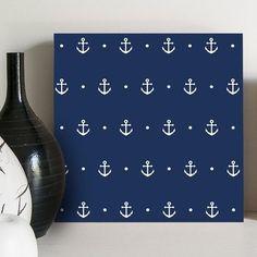 quadro decorativo navy anchors