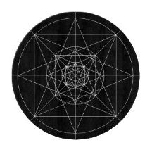 Third Dimensional Sacred Geometry Cutting Boards
