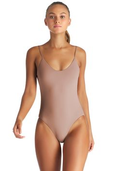 Vitamin A Womens Palmera Ecolux Leah Bodysuit One Piece Swimsuit
