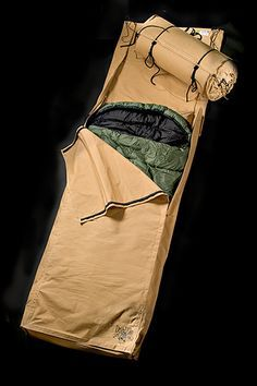 "Canvas Bedroll---an option for winter camping--my friends gave me a ""swag"" for my last Birthday--it has a 3inch matress---but can remove the matress and use like the photo shows--as a protective/warmth system. Note: for hiking, I would go with a more robust system, like the O.R. Bivey or a tent."
