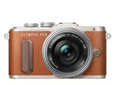 Olympus PEN E-PL8 - Bruin + 14-42mm EZ