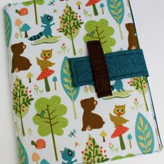 Cute iPad case stand Animals and Trees fabric ipad cover. $40.00, via Etsy.