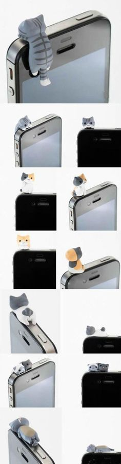 Ear Plug For iPhone OMG! iCat for iPhone And they're anatomically correct. iCat for iPhone And they're anatomically correct. Iphone Design, Cute Iphone Accessories, Cat Accessories, Accessories Online, Neko Atsume, Accessoires Iphone, Things To Buy, Stuff To Buy, Cat Things