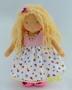 Natural dolls and toys. Waldorf Dolls, Princess Peach, Doll Clothes, Wool, Knitting, Children, Crafts, Handmade, Inspired