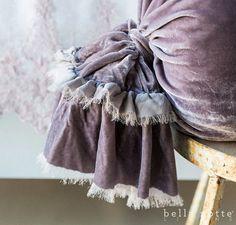 Bella Notte Linens Loulah Silk Velvet Body Pillow Ships Free #bellnottelinens #beautifulpillows #velvetpillows