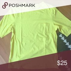 Kate Spade Saturday double pocket tee Very stylish with two mini pockets. Shirt is By Saturday by Kate Spade. two pocket lemon yellow tee. kate spade Tops Tees - Short Sleeve