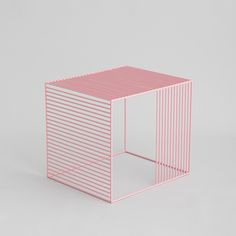 Image of Wire Side Table, Powder Coated